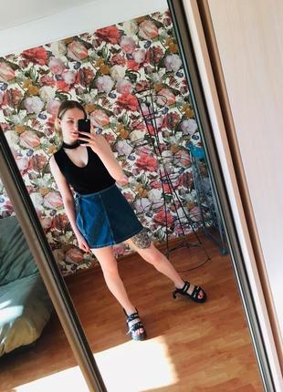 Джинсовая юбка на завязочках