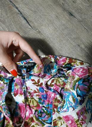 Цветочный принт, легкий сарафан4 фото