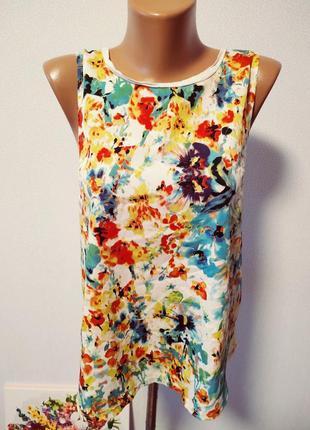 Блуза с цветами / горячая цена/ скидки!4 фото