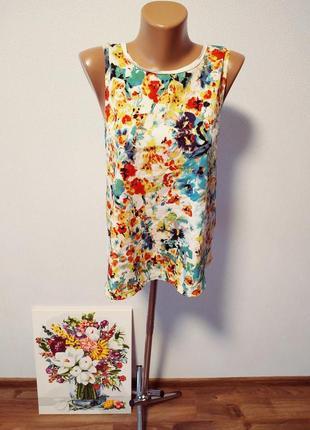 Блуза с цветами / горячая цена/ скидки!1 фото