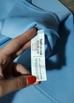 Небесно голубой сарафан с открытой спиной от boohoo5 фото