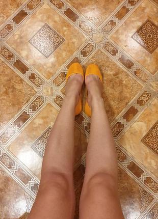 Яркие оранжевые резиновые балетки fashion7 фото