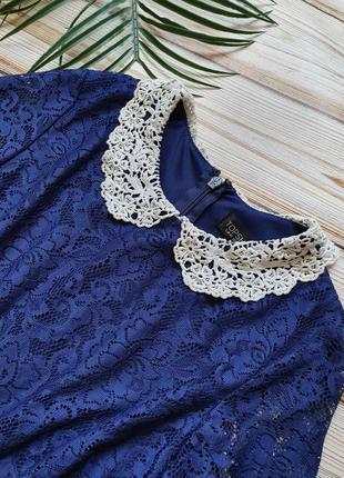 Кружевное платье с воротником8 фото