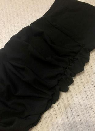 Чёрное асимметричное платье3 фото