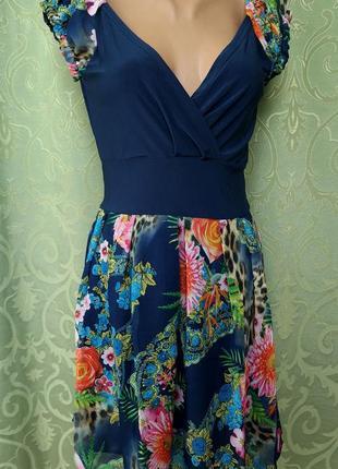 Платье- сарафан женский мини. шифон2 фото