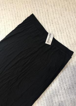 Новая чёрная юбка макси2 фото