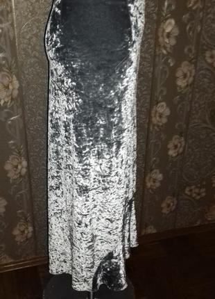 Шикарная бархатная юбка3 фото