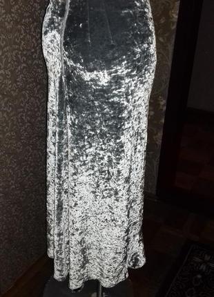 Шикарная бархатная юбка8 фото