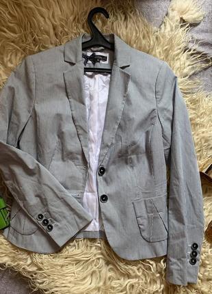 Стильный пиджак в полоску comma1 фото