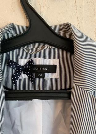 Стильный пиджак в полоску comma2 фото