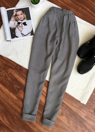 Летние брюки прямого кроя, высокая посадка chicoree2 фото