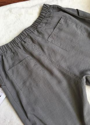 Летние брюки прямого кроя, высокая посадка chicoree5 фото