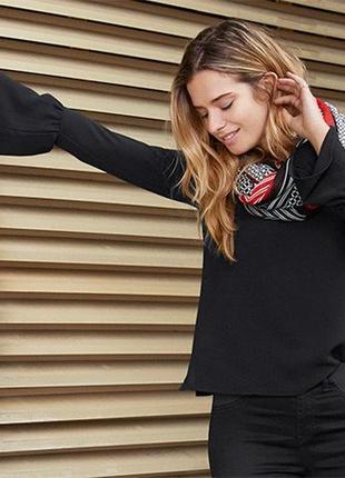 Стильная  блузка от тсм tchibo германия размер 40,42 евро1 фото