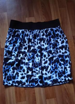 Распродажа♥стильная легкая юбка  с карманами,тренды года- леопард , 80е, анимал принт4 фото