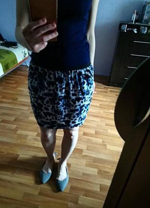 Распродажа♥стильная легкая юбка  с карманами,тренды года- леопард , 80е, анимал принт