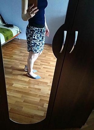 Распродажа♥стильная легкая юбка  с карманами,тренды года- леопард , 80е, анимал принт3 фото