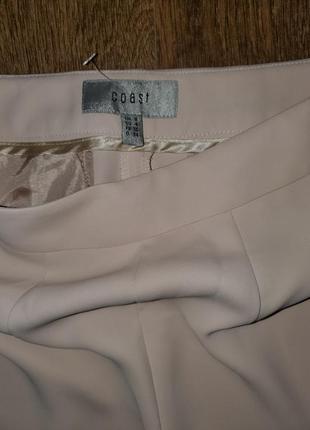 Пудровые широкие брюки палаццо клёш от бёдра высокая талия крутого бренда coast6 фото