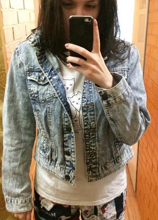 Джинсовая куртка джинсовка вареный джинс варенка 90 е оверсайз6 фото