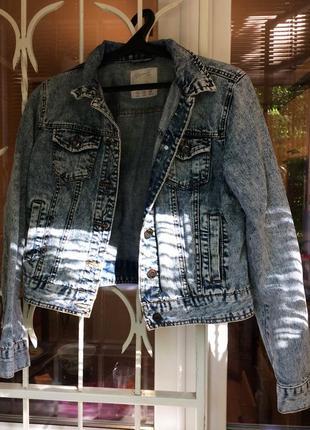 Джинсовая куртка джинсовка вареный джинс варенка 90 е оверсайз7 фото