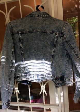 Джинсовая куртка джинсовка вареный джинс варенка 90 е оверсайз8 фото