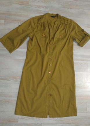 Платье рубашка с рукавом трансформер next 12