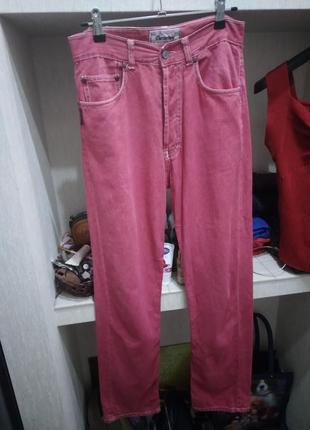 Винтажные джинсы из легкого денима на болтах