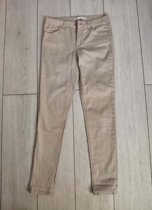 Бежевые коттоновые брюки