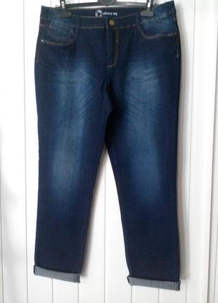 Супер тонкие удобные женские джинсы бойфренды большого размера от c&a