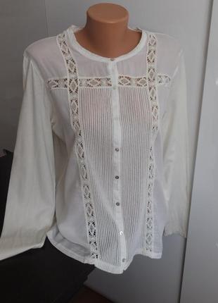 Невесомая хлопчатобумажная блуза bella jones франция разм.48