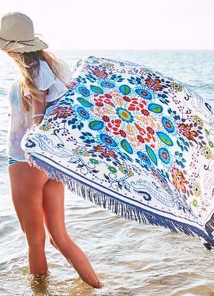 Пляжний килимок коврик подстилка на пляж арт. 1480