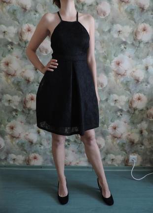 Платье коктейльное tfnc london s 40-42р-р сарафан франция