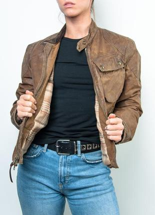 Женская куртка polo ralph lauren brown faux-leather jacket