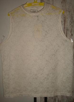 Блуза жен. стрейч-гипюр zizzi (дания) универсального размера батал