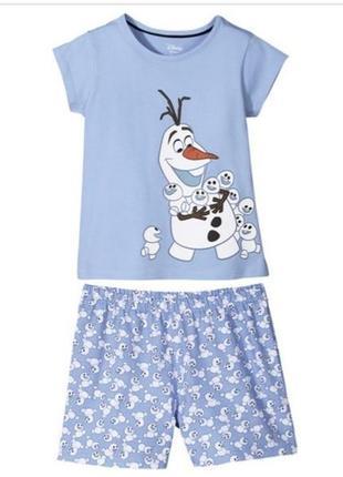 Хлопковая пижама с принтом из мультика disney1 фото