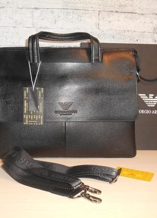 Сумка-портфель мужская в стиле armani , кожа, 20-14