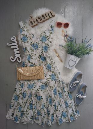 Актуальное легкое летнее платье миди ришелье №277