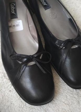 Кожаные туфли мокасины gabor 42р (27см)