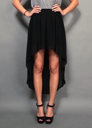 Черная юбка со шлейфом divided