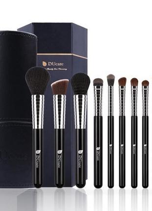 Набор кистей для макияжа в тубусе ducare 11 pieces professional brush set