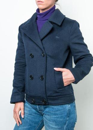 Очень красивая шерстяная lacoste wool pea coat women