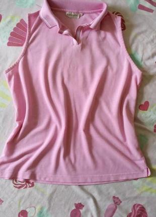 Фирменная майка, поло, нежно розового цвета, р-р 48-50