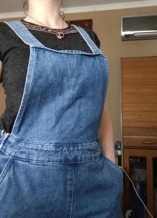 Джинсовый комбинезон с кюлотами new look denim8 фото