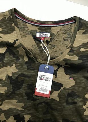Женская футболка tommy hilfiger милитари2 фото