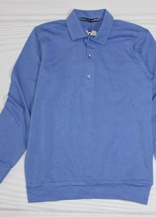 Хлопковый голубой реглан джемпер, турция