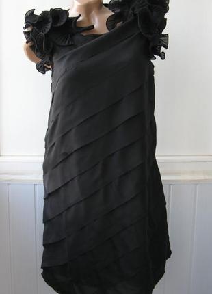 Платье шифоновое с 3d воланами, вечернее, коктейльное, miso