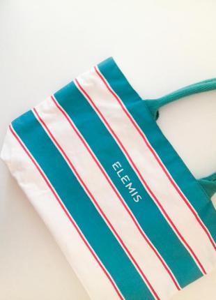 Небольшая пляжная сумка  в полоску , тканевая пляжная  эко-сумка