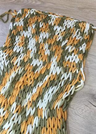 Вязаное пляжное платье2 фото