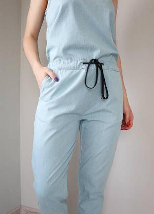 Джинсовый комбинезон штанами, брючный комбинезон xs-s5 фото