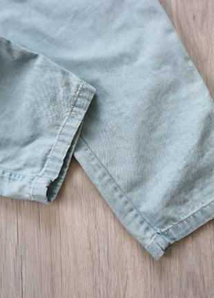 Джинсовый комбинезон штанами, брючный комбинезон xs-s10 фото