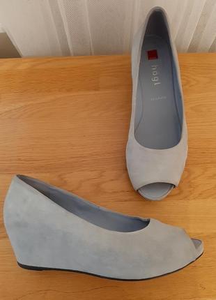 Hogl замшевые туфли босоножки 4 37